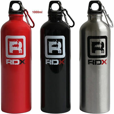 RDX Water Bottle Training Fitness Sports Gym Outdoor Aluminum Red Silver Black