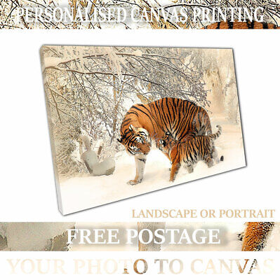 Custom Canvas Print Your Photo on Personalised Canvas Ready to Hang A4 A3 A2 A1