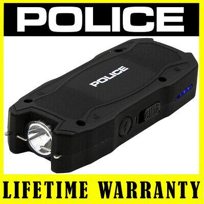 Police Stun Gun 1900 550 Bv Self Defense Rechargeable Led Flashlight Black