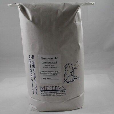 2,5 kg Emmermehl, Emmer, Urweizen, Vollkornmehl aus ganzem Korn, (€ 3,20 / kg)