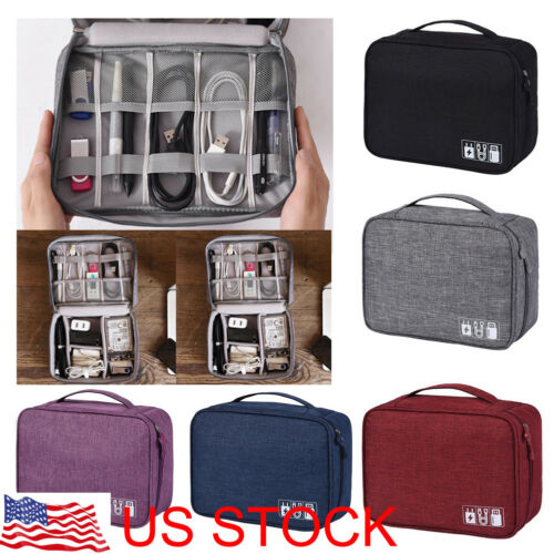 Electronics Accessories Organizer Travel Bag Storage Cable U