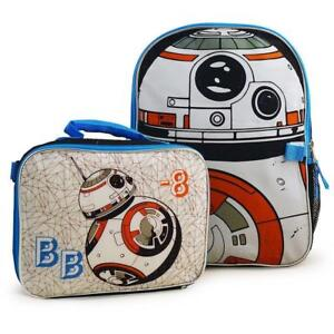 Star Wars BB-8 Deluxe School Backpack and Lunch Bag for Boys