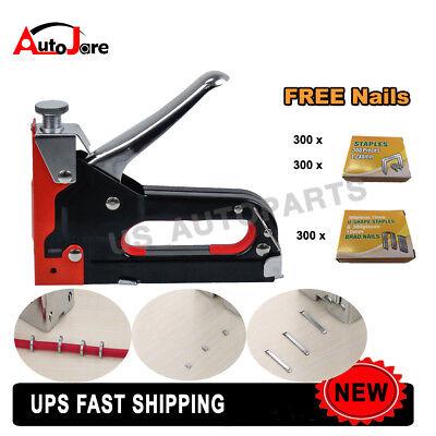 - Power Tool - Heavy Duty Nail Staple Gun Upholstery Stapler for Furniture Wood