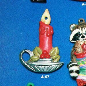 Ceramic Bisque Christmas Ornament Candlestick Alberta 57 U ...
