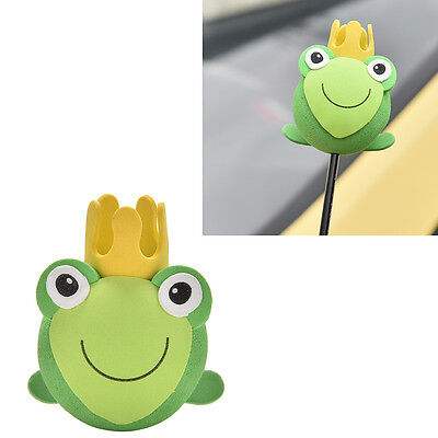 Froschkönig Charmante grüne Kröte Antennenkugeln Auto Antenne Antennen Topper ML