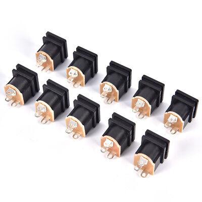 10pcs 3 Pin PCB Mount 5.5x2.1mm Female DC Power Jack Socket ConnectorSN