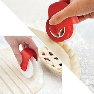 Pastry Wheel Cutter (Pizza Pastry Lattice Cutter Pastry Pie Decoration Cutter Plastic Wheel Roller W0)