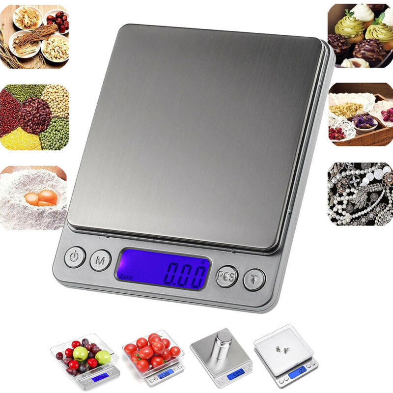 3000g/0,1g Küchenwaage Goldwaage Digital Waage Feinwaage Briefwaage Scales Heiß