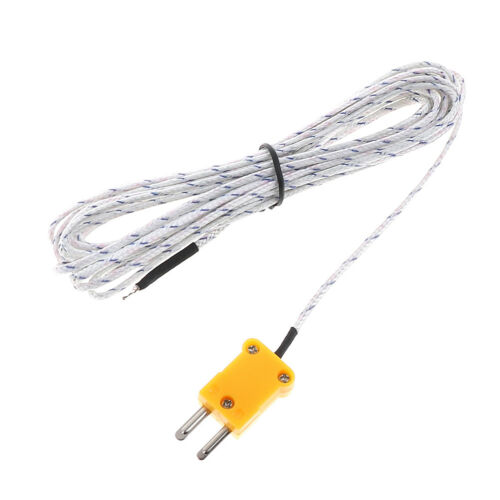 1PC 5m K Type Temperature Sensor Thermocouple Probe Cable Wire Y - $6.20