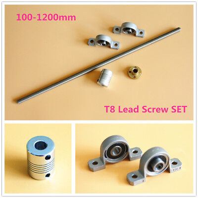 T8 Lead Screw Set Lead 28 Nut Shaft Coupler Vertical Bearing Up To 1200mm