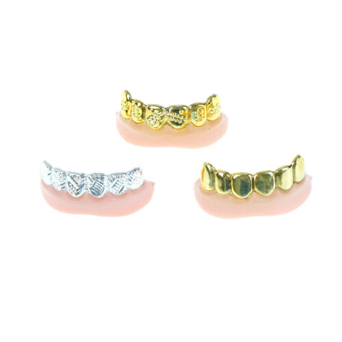 1pc Bling Grill Grillz Fake Teeth Bulk Halloween Birthday Party Gold Silver W  J