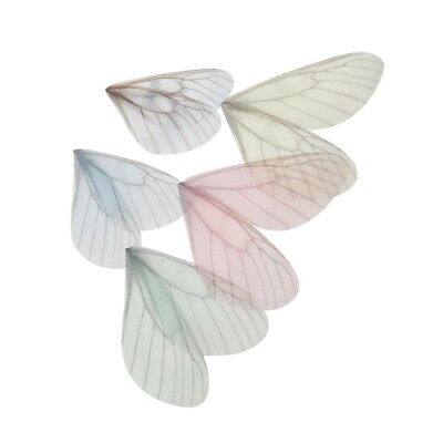 10pcs 8cm Colorful Fairy Thin Decorative Butterfly Wing for DIY Headband Chokers