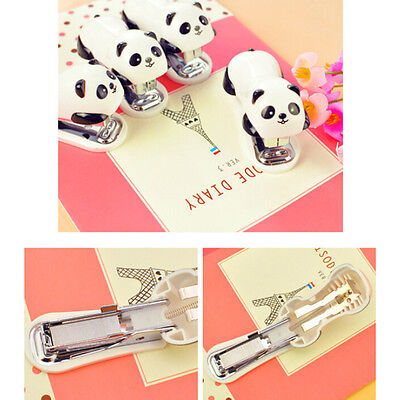 Cute Panda Office Student Small Mini School Home Stapler Staples Set Plasticxg