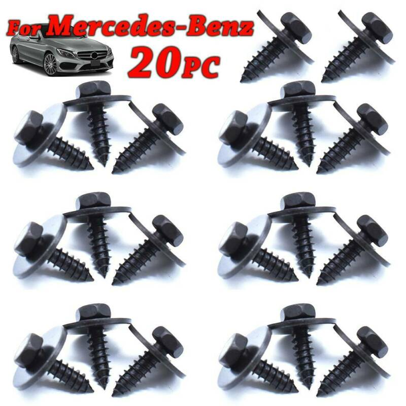 MERCEDES-BENZ Exterior Engine SplashGuard Bumper Fender Screw Trim Fastener Clip