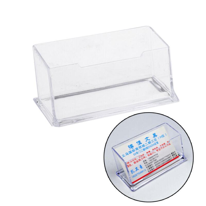 Plastic Business Card Holder Display Counter Desktop Gift Card Stand CleaYJV6