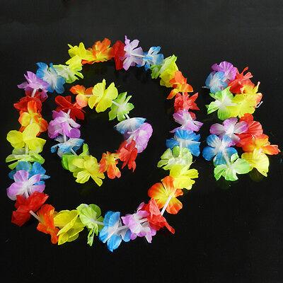 4pcs / set hawaiische Hula Luau Gras-Tanz-Kopf-Ansatz-Handgelenk-Girlande JMHWC