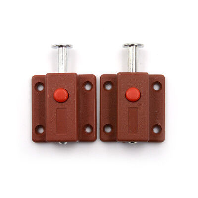 2 Pcs Latch Thumb Lock For Door Window Cabinet Box Cupboard Locker@