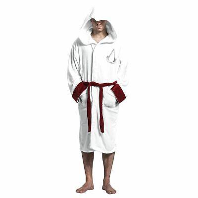 Assassins Creed Logo Erwachsene Bademantel - Weiß Herren Gamer Hausanzug ()