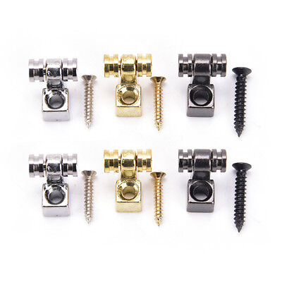 2Pcs Roller String Retainers Mounting Tree Guide for Electric Guitar silver XJ