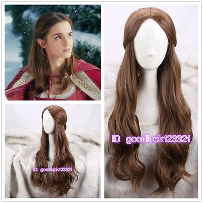 2017 Movie Beauty And The Beast Princess Belle Daily Wig Cosplay Wigs A Wig Cap