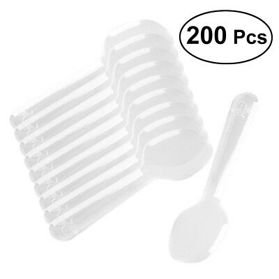 200pcs Mini Clear Plastic Spoons Disposable Spoons for Ice Cream Jelly Dessert](Mini Plastic Spoons)