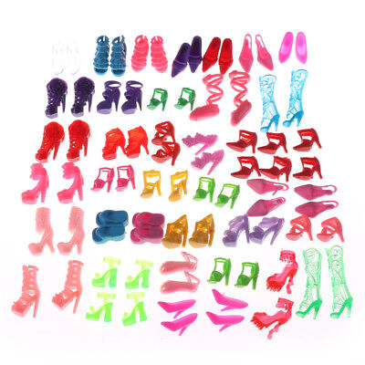 80pcs Mixed Different High Heel Shoes Boots for    Doll Dresses Clothes HF