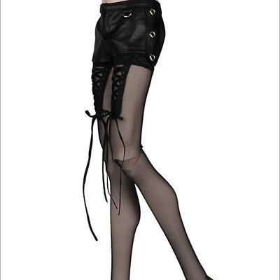 """28/"""" BJD clothes  Glamor Model M Size Skinny Buckle Pants Black Dollmore"""