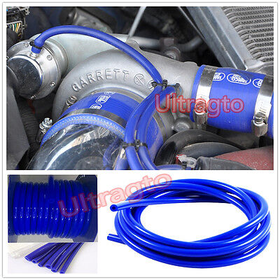 "8MM 5/16"" ID BLUE SILICONE FUEL/AIR VACUUM HOSE/LINE/PIPE/TUBE BY FOOT/FEET"