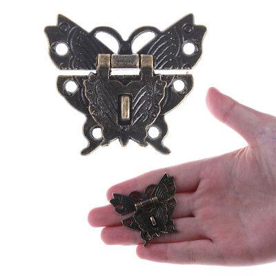 4h Antik (Schmetterling Schnalle Haspe Holzkiste mit Schloss Schnalle Antik·Zink·Legieru4H)