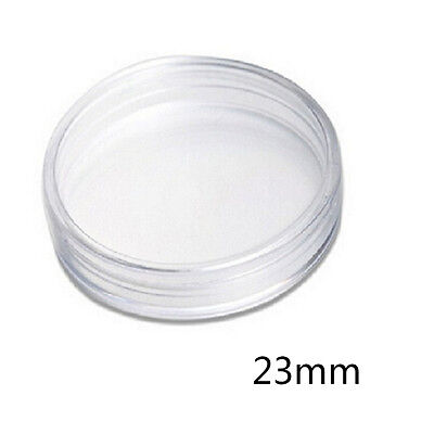 16-36mm Plastic Coin Holder Capsule Storage Case Display Box with Pad Ring VG
