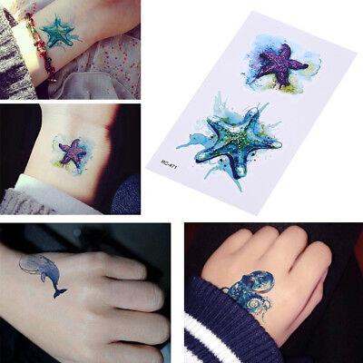 CA Sea Animals Temporary Tattoos Waterproof  Fake Body Art Arm Tattoo Sticker OF - Tattoos Of Animals