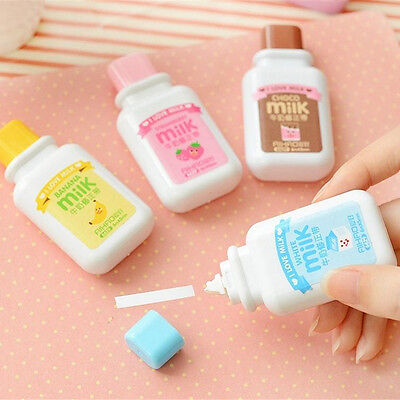 Milk Bottle Roller White Out School Office.study Stationery Correction Tape Tool