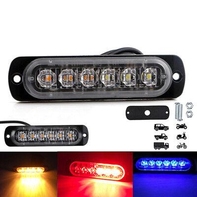 6 Led Light Bar Flash Emergency Car Vehicle Warning Strobe Flash Color OptionaWG Led Emergency Vehicle Lights