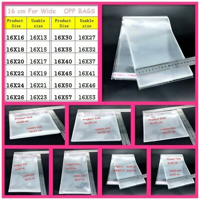 16cm Wide Clear Plastic Bags Self Adhesive Seal Jewelry Gift Package Opp Bags
