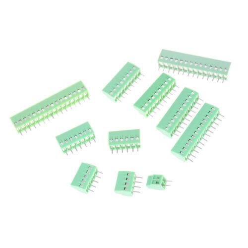 1PCS 2P-16P KF128 2.54mm PCB Universal Screw Terminal Block US.