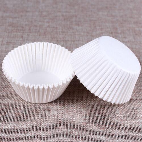 Weiße Cupcake-Papierfälle des Cupcakes 100 Cupcake Papierschalen  UE