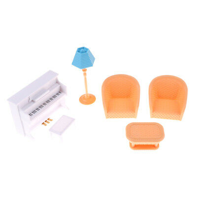 Dollhouse Sofa Piano Table Miniature Furniture Set Doll Accessory Kid Gift Toy-A