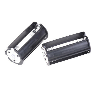 2Pcs 3 x AA Battery Plastic Holder Box Case  for Flashlight Torch