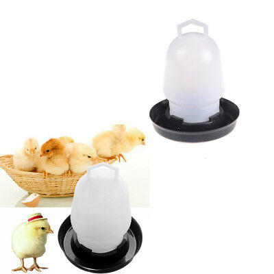 Automatic Pet Feeder Chicken Quail Poultry Bird Pheasant Feed Water Tool 300ml