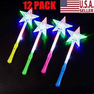 Light Up Toys (12 Light Up Star Wands Princess Flashing Toys LED Fairy Glow Sticks)