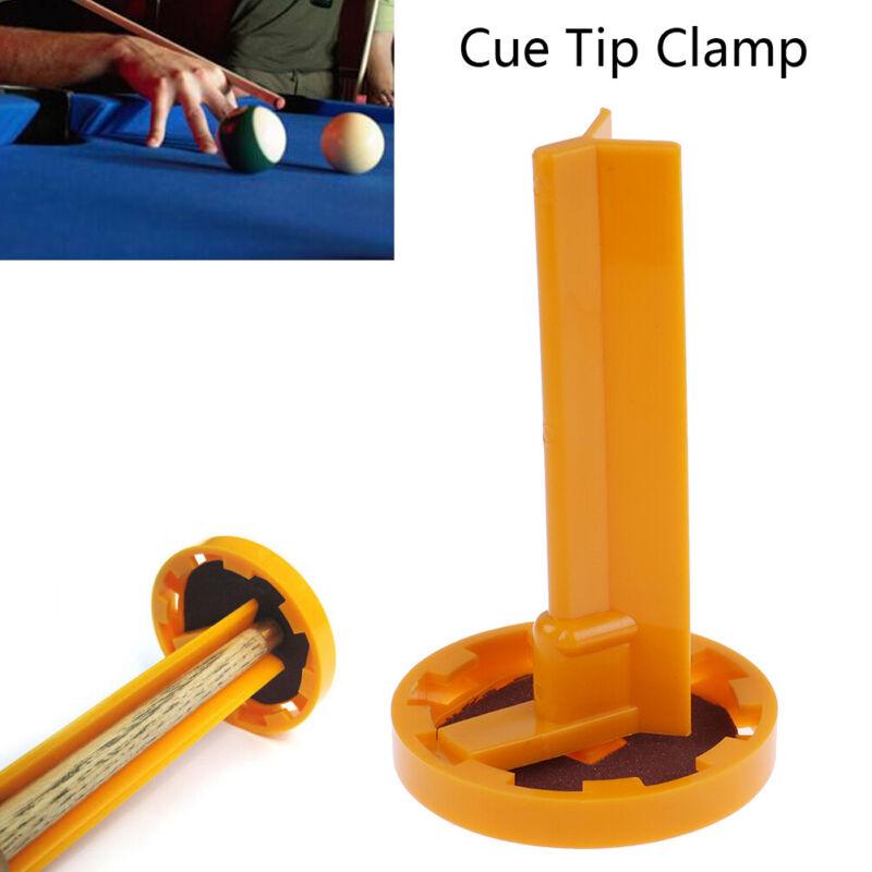 Snooker L-shaped Pool Cue Tip Clamp Billiards Holder Repair Tools Plastic Ind LU