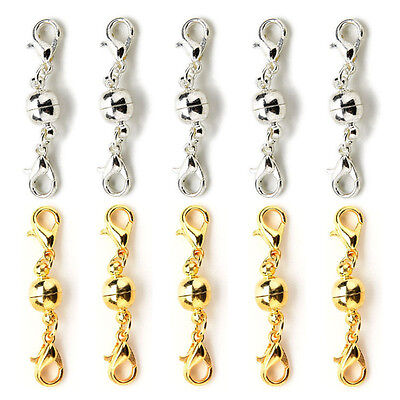 10Pcs Magnetic Clasps Strong Silver Gold Plated For Necklace Jewelry Making XR