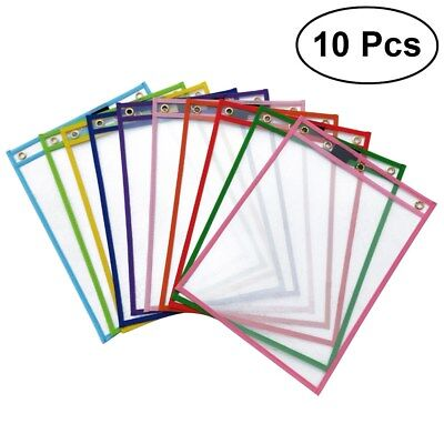 Student Dry Erase Boards - 10PCS Reusable Dry Erase Pockets, Assorted Colors for Children Kids Students