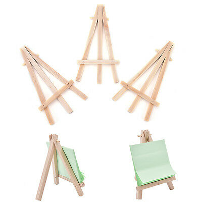 3x Mini Wooden Art Holder Artwork Display Table-Top Easels Drawing Board VH