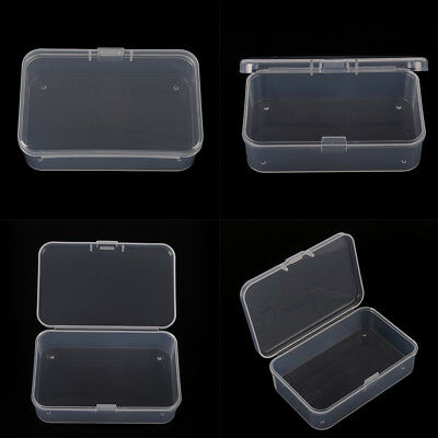 Clear Plastic Transparent With Lid Storage Box Collection Container Case Nice US - Small Containers With Lids
