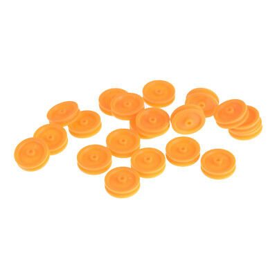 20Pcs 2mm Hole Orange Plastic Belt Pulley for DIY RC Toy Car Airplane S5