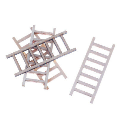 4pcs DIY Gift Dollhouse Miniature Wood Stairs Toy  Garden Fairy Home Decoration: