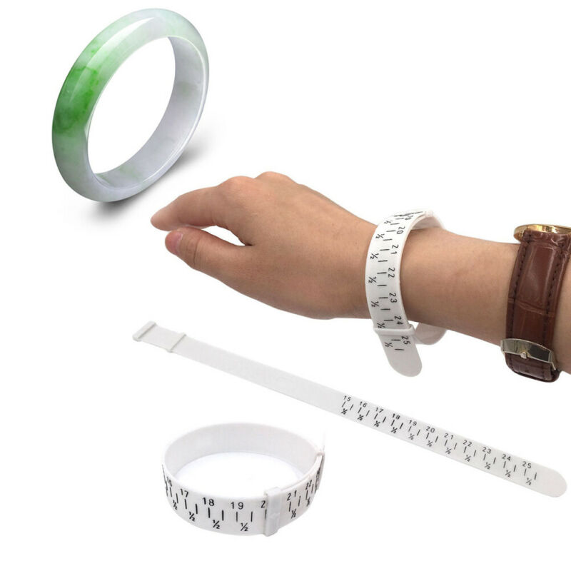 Bracelet sizer plastic wristband measuring tool bangle jewel