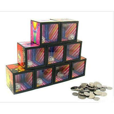 Funny Flash Magic Money Box Piggy Bank Coin Disappear Children Trick Toy aq
