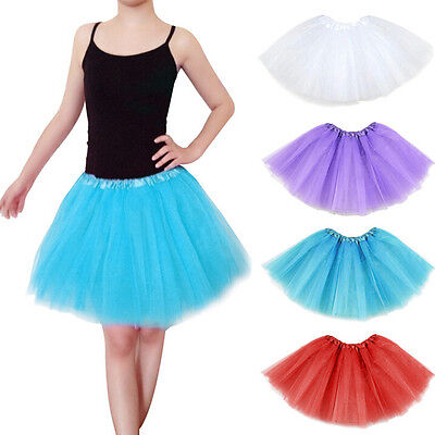 Teens Girl Tutu Ballet Skirt Tulle Costume Fairy Party Hens Nigh SIM (Sims Costume)